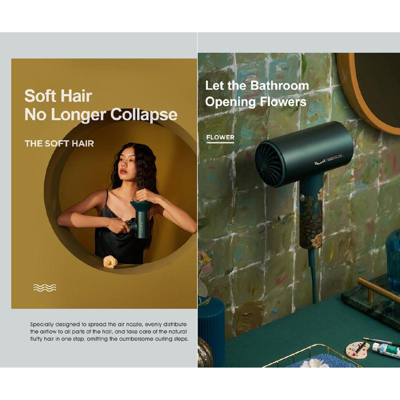 Фен для волос Xiaomi Soocas H5 Van Gogh Negative Ion Hair H3S - Фото 9