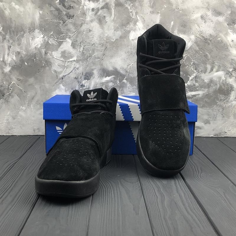 Мужские чёрные ❄️зимние❄️замшевые кроссовки адидас adidas tubu... - Фото 3