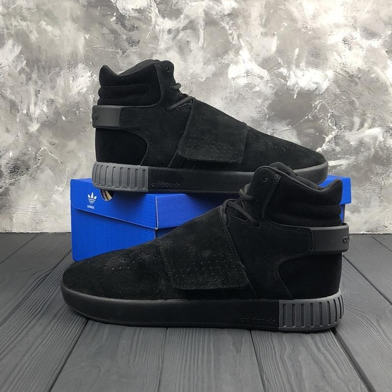 Мужские чёрные ❄️зимние❄️замшевые кроссовки адидас adidas tubu... - Фото 5
