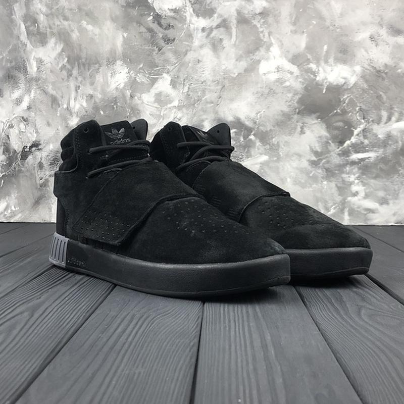 Мужские чёрные ❄️зимние❄️замшевые кроссовки адидас adidas tubu... - Фото 7