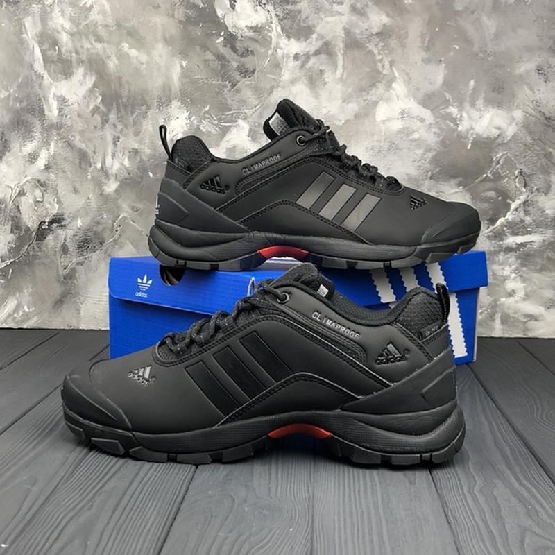 Мужские ❄️зимние❄️кроссовки адидас adidas climaproof. чёрные - Фото 2