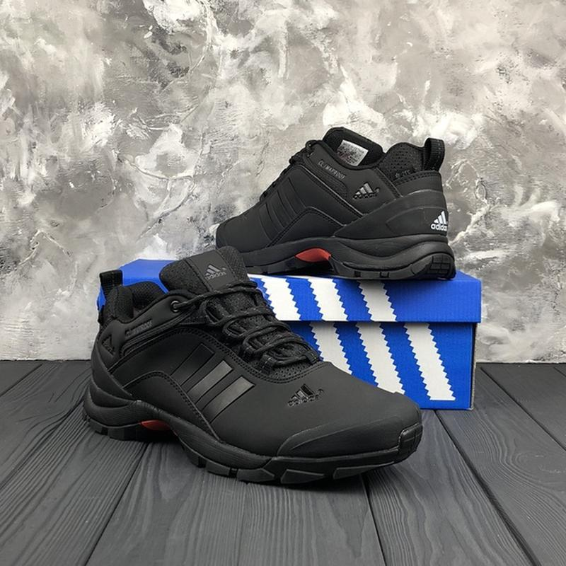Мужские ❄️зимние❄️кроссовки адидас adidas climaproof. чёрные - Фото 3