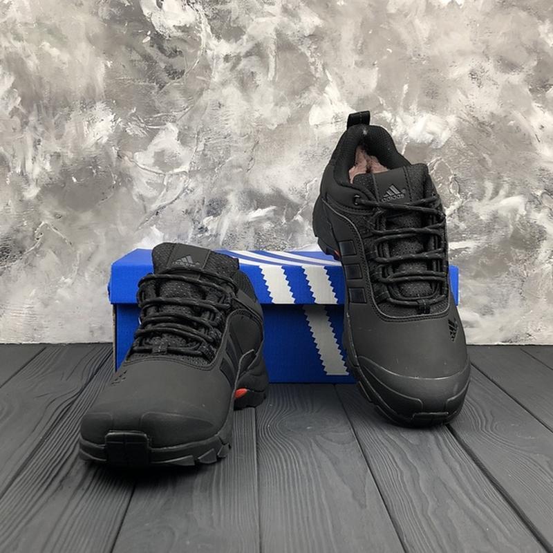 Мужские ❄️зимние❄️кроссовки адидас adidas climaproof. чёрные - Фото 5