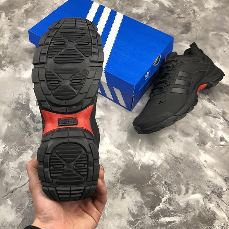 Мужские ❄️зимние❄️кроссовки адидас adidas climaproof. чёрные - Фото 9