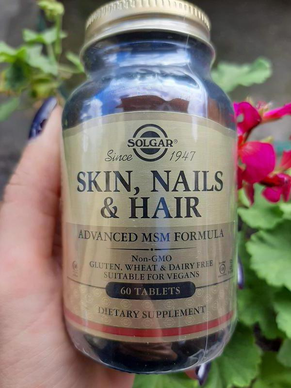 Витамины кожа ногти волосы Skin Nails Hair 60 шт, Solgar, Солгар