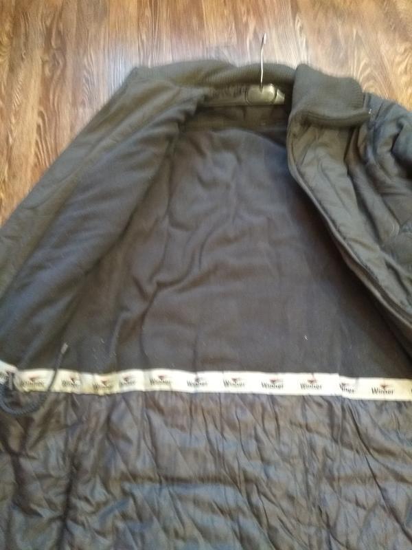 Теплый зимний пуховик пальто на синтепоне с флисом - Фото 3