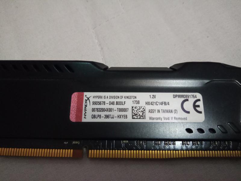 Память HyperX 4 GB DDR4 2133 MHz FURY (HX421C14FB/4)