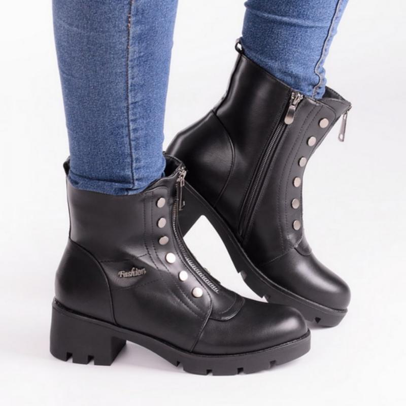 30963 ботинки на широком каблуке - Фото 2