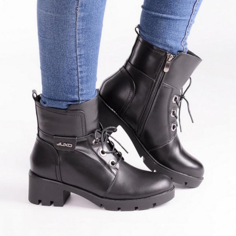30962 ботинки на широком каблуке - Фото 2
