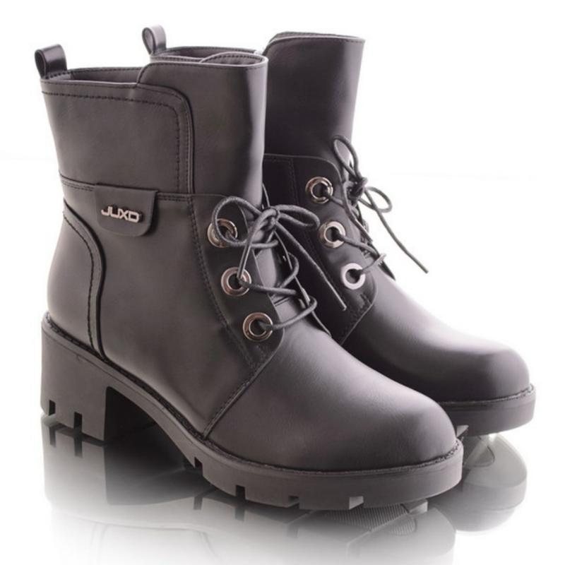 30962 ботинки на широком каблуке - Фото 3