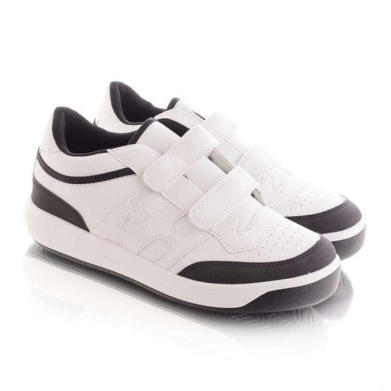 Чёрно-белые кроссовки на липучках - Фото 2