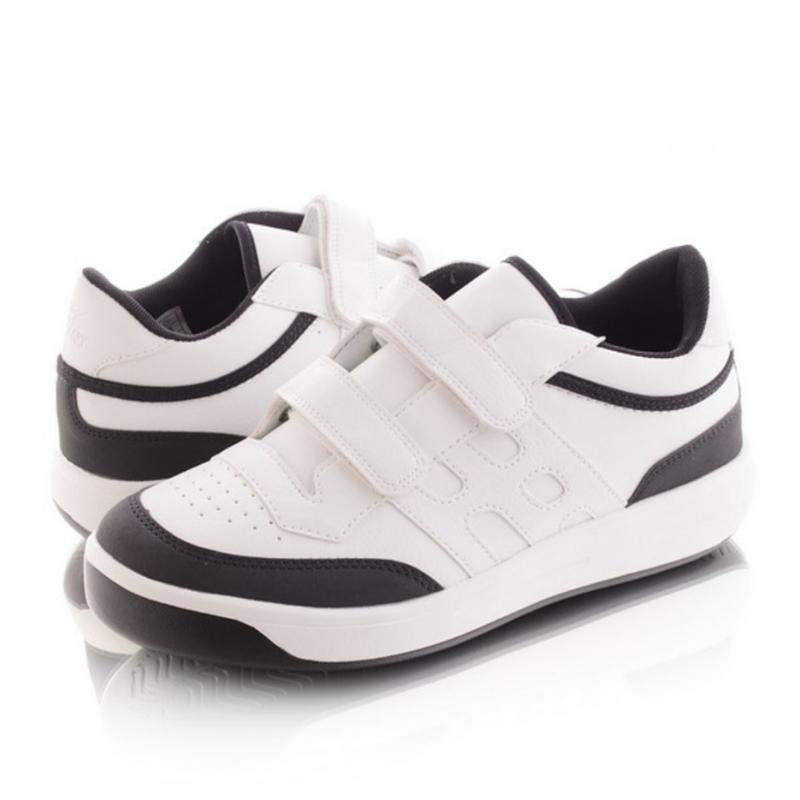 Чёрно-белые кроссовки на липучках - Фото 3