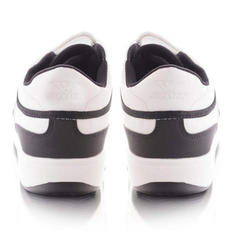 Чёрно-белые кроссовки на липучках - Фото 4