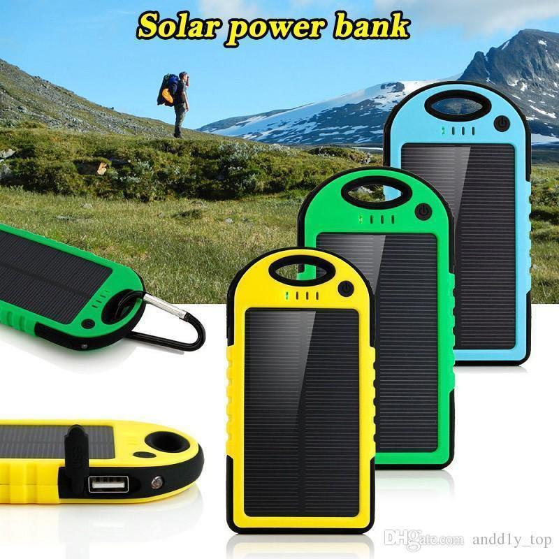 Портативное зарядное Power Bank Solar 50000 mAh на солнечной бата - Фото 2