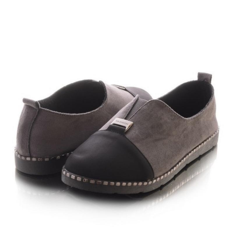 Женские туфли на плоской подошве - Фото 2