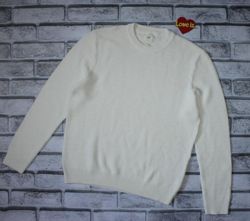 Новый мужской хлопковый свитер h&m. размер xl