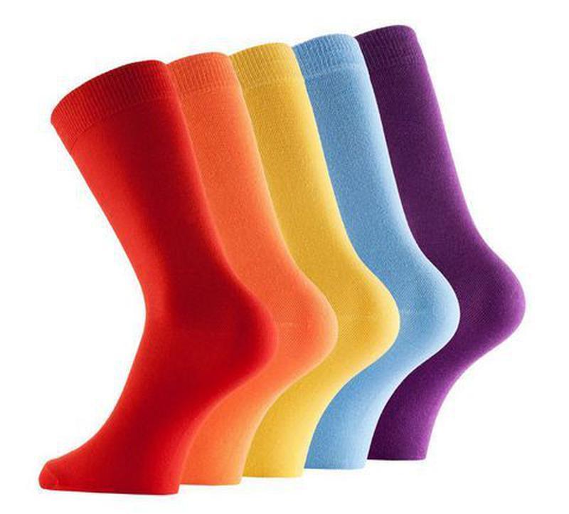 Красные носки цветные мужские хлопковые