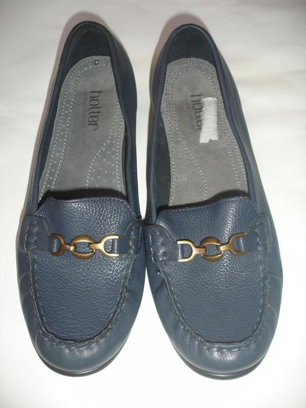 Фирменные hotter кожаные туфли мокасины на 41-42 размер новые