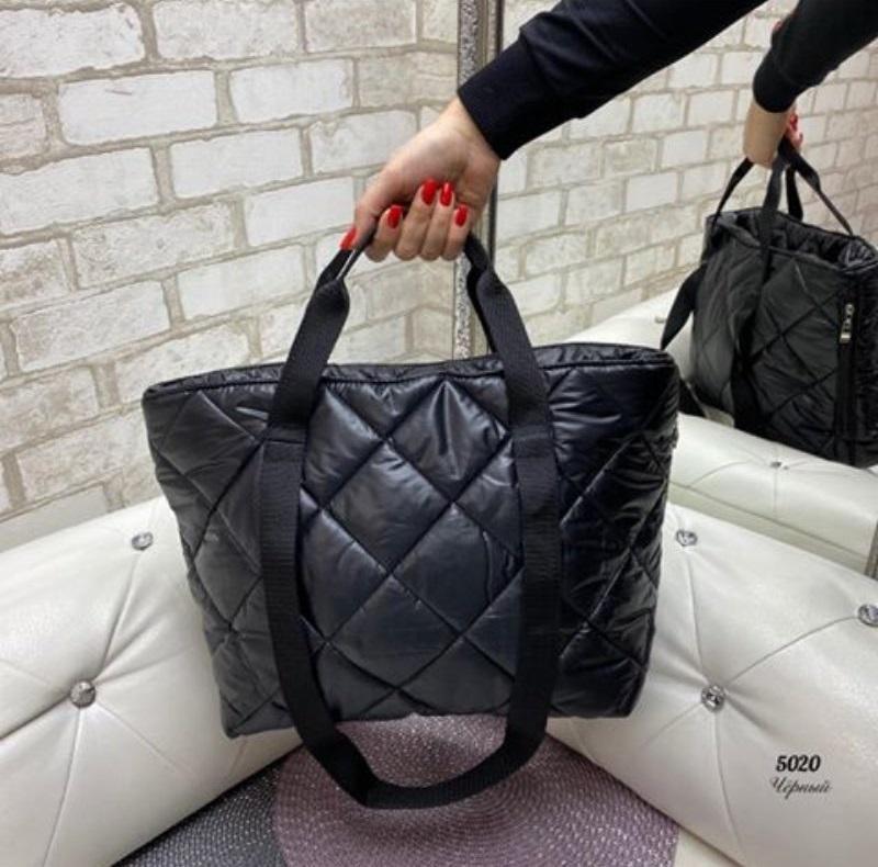Стёганая женская сумка стильная . черный - Фото 7