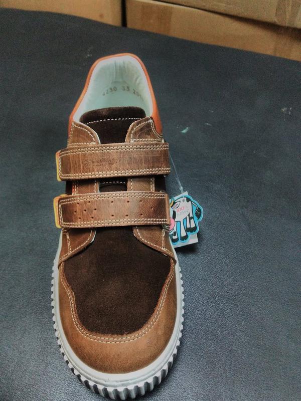 Кожаные кроссовки 31, 32 р minimen на мальчика - Фото 2