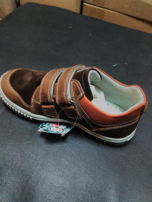 Кожаные кроссовки 31, 32 р minimen на мальчика - Фото 3