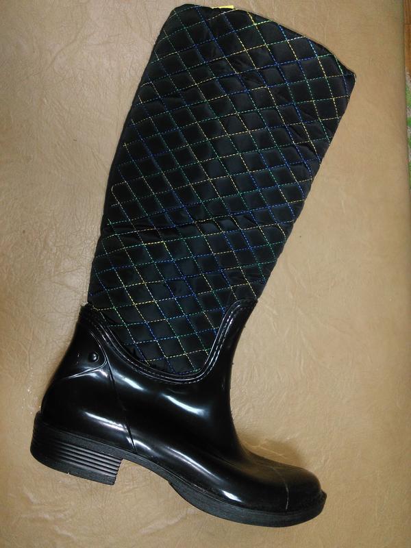 Утепленные резиновые сапоги 36-39 р. женские гумові, чоботи, с...