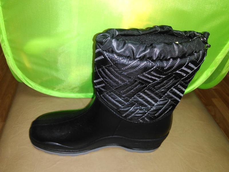 Утепленные резиновые сапоги 37-41 р. женские, ботинки, непромо... - Фото 2