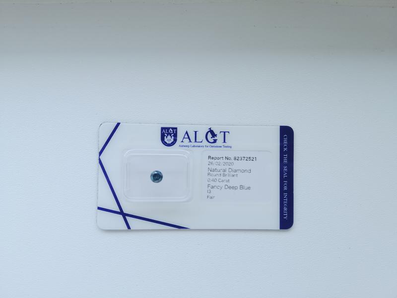 Бриллиант с сертификатом, синий, 0.40карат - Фото 2