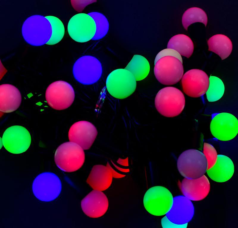 Гирлянда светодиодная Шарики 5 , 40 лампочек