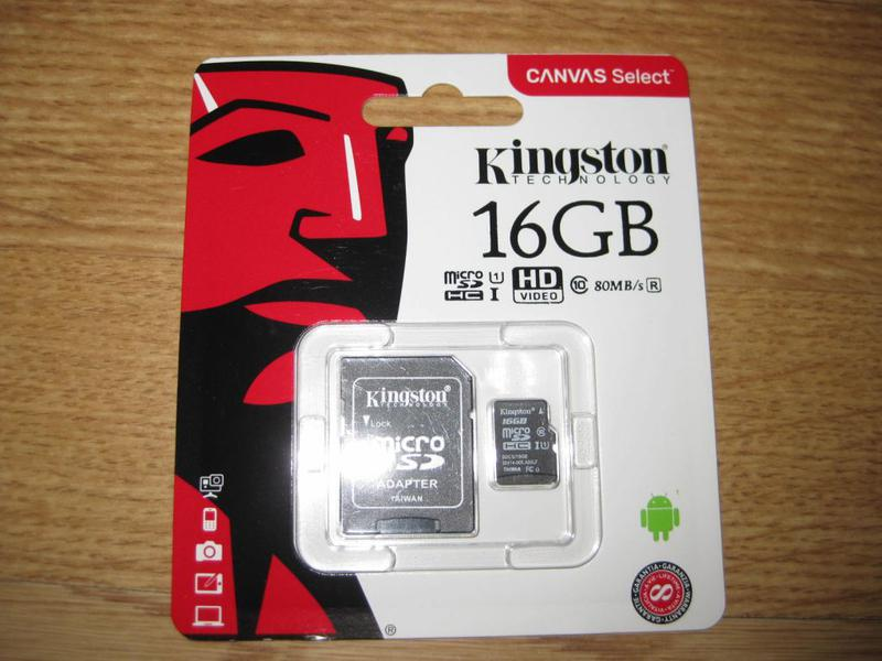 Карта памяти Kingston Canvas selеct 16 GB microSDHC Class 10
