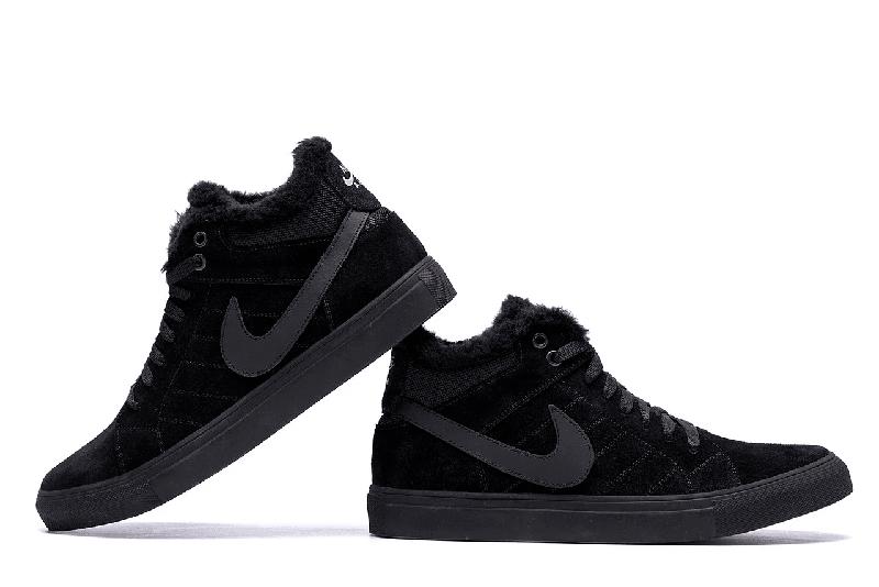 Мужские Зимние Кожаные Ботинки Nike - Фото 2