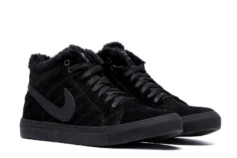 Мужские Зимние Кожаные Ботинки Nike - Фото 5