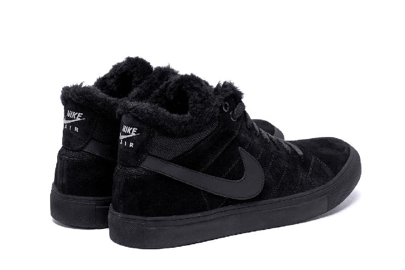 Мужские Зимние Кожаные Ботинки Nike - Фото 4