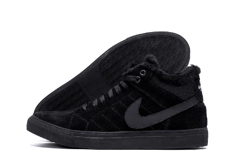 Мужские Зимние Кожаные Ботинки Nike - Фото 3