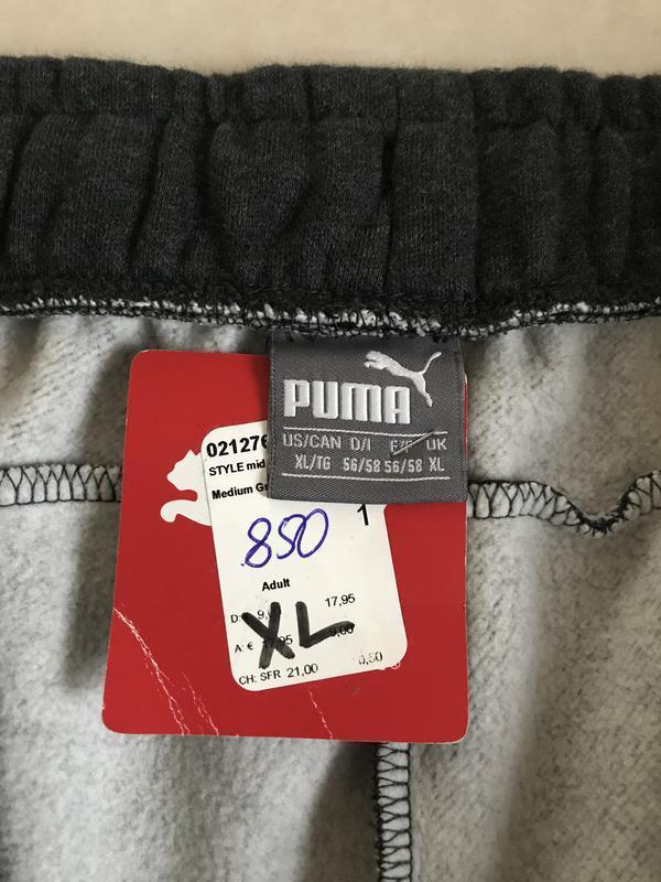 Штаны трикотаж утеплённые стильные puma размер xl - Фото 8