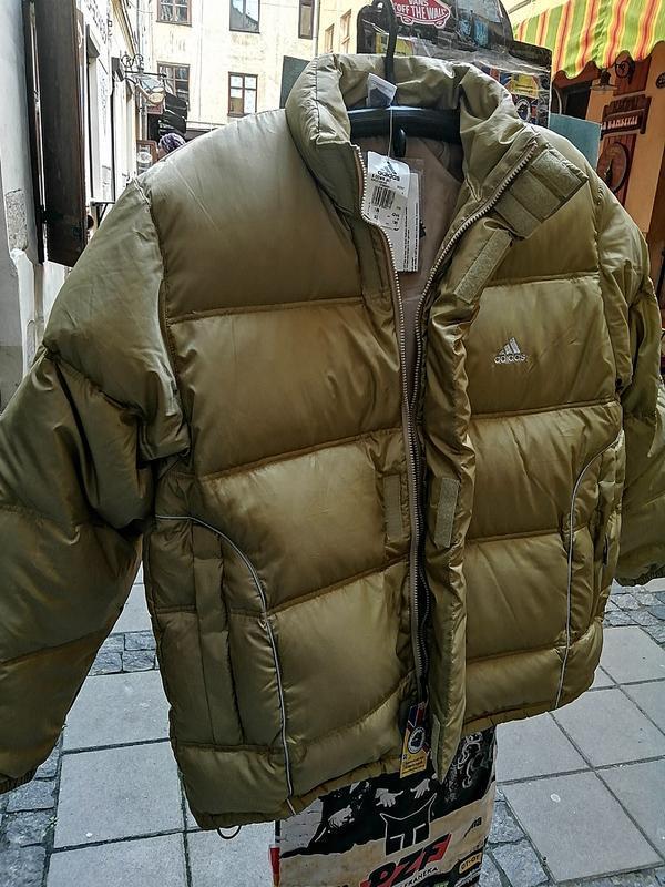 Зимняя куртка adidas пуховик