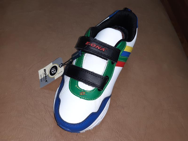 Кожаные кроссовки на мальчика 31-36 р. bona