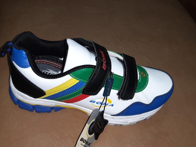 Кожаные кроссовки на мальчика 31-36 р. bona - Фото 2