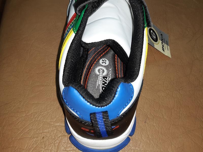 Кожаные кроссовки на мальчика 31-36 р. bona - Фото 3
