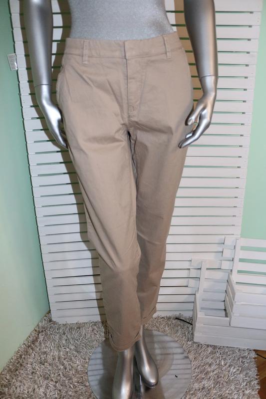 Бежевые брюки штаны h&m