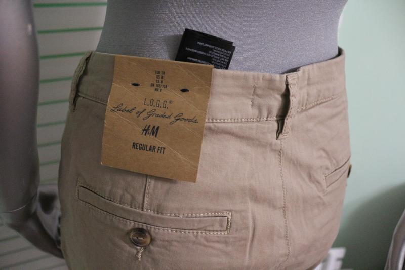 Бежевые брюки штаны h&m - Фото 4