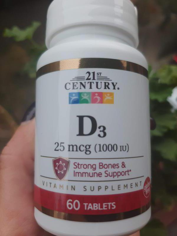 Витамин D3, 21st Century, вітамін Д3, 1000 mcg, 60 шт.