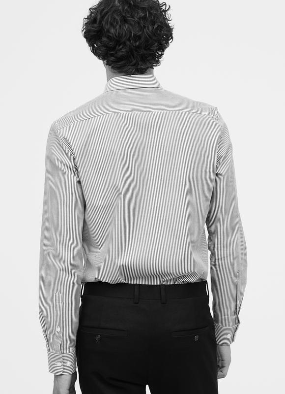 Полосатая рубашка h&m из хлопка премиум ! - Фото 2