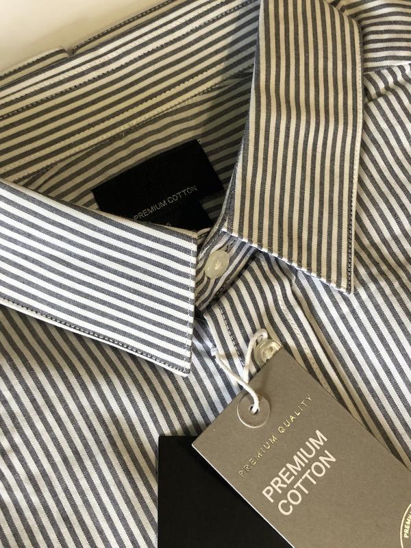 Полосатая рубашка h&m из хлопка премиум ! - Фото 7