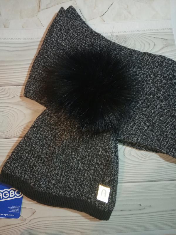 Шапка шарф зимний комплект набор для мальчиков agbo