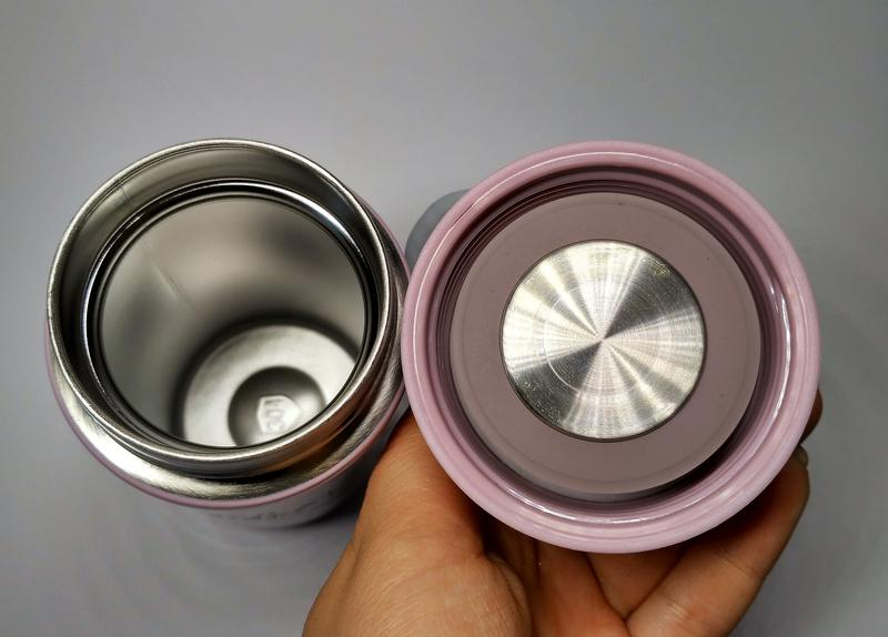 Термос термокружка розовый, с ручкой, 320 мл - Фото 2