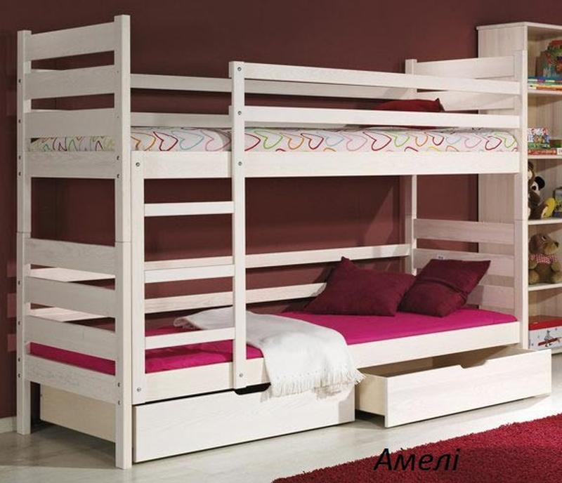 Ліжко дитяче двохярусне .. Кровать двухярусная деревянная.
