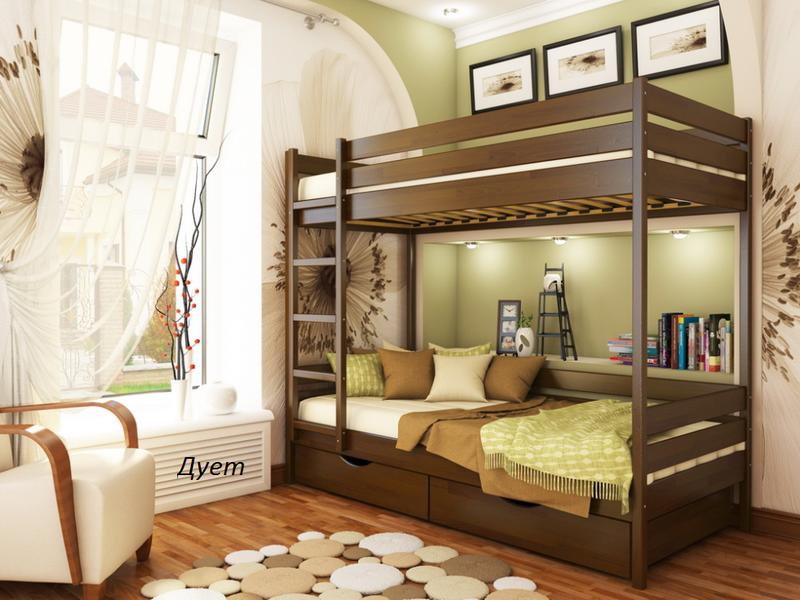 Ліжко дитяче двохярусне .. Кровать двухярусная деревянная. - Фото 2