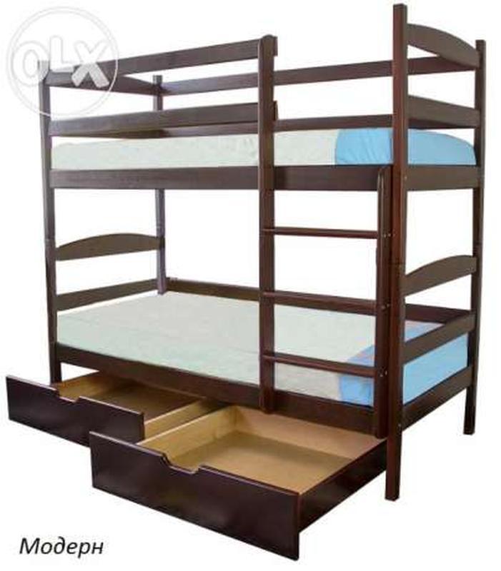 Ліжко дитяче двохярусне .. Кровать двухярусная деревянная. - Фото 4