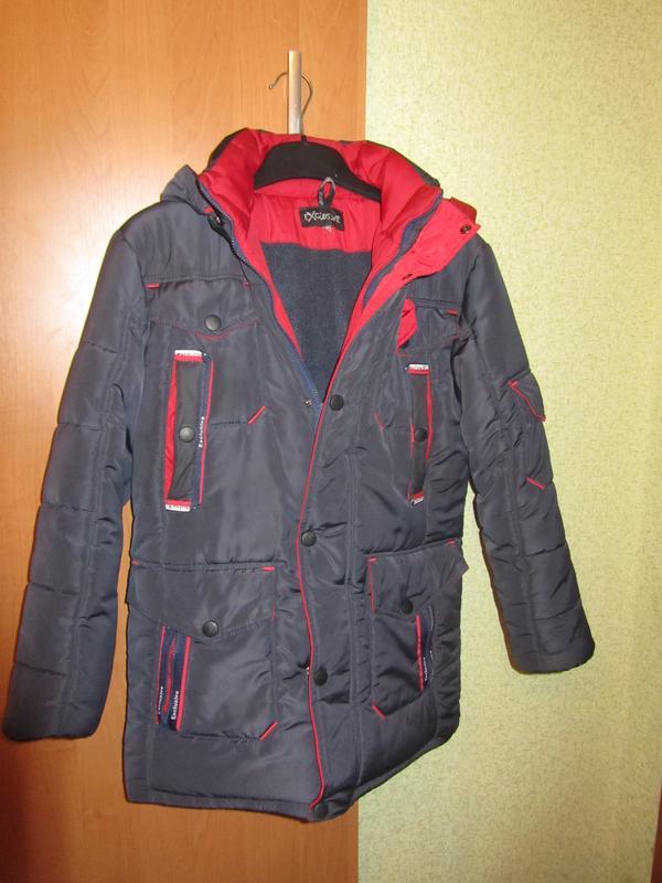 Подростковая зимняя курточка на мальчика 11-12 лет размер 40